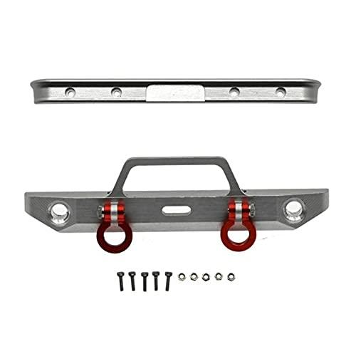 LSB-DOCCIA Per Axial SCX24 AXI00001 Chevrolet C10 Telaio 1/24 RC Crawler Auto Metallo Anteriore e Posteriore Paraurti Aggiornamento Parti Accessori (Colore: Argento)