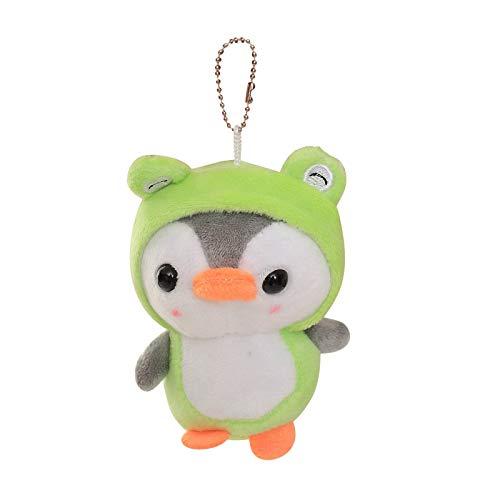 Empeobi Plush Penguin Keychain,Colorful Penguin Stuffed Animals Toys Ornaments Pendant Key Ring for Backpack,15 cm