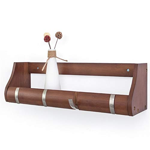 Porte-manteau flottant en crochet avec crochet en bambou - cintre pour manteau avec plusieurs crochets rétractables pour suspendre manteaux, écharpes, livre, sacs à main, etc. (taille : 4 Hook)
