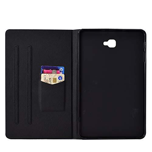 XTstore Hülle für Samsung Galaxy Tab A 10,1 Zoll 2016 (SM-T580/T585), PU Leder Tasche Ständer Cover Schutzhülle Schale Etui mit Auto Schlaf/Wach Funktion für Samsung Galaxy Tab A6 10.1, Fuchs
