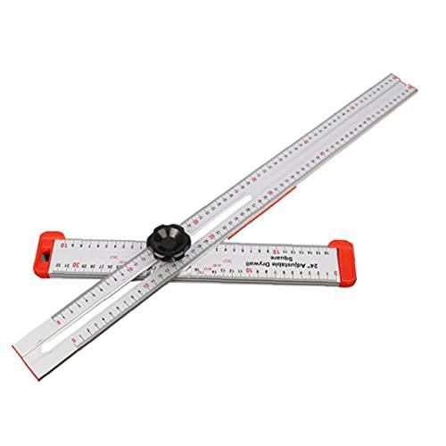 T-regla cuadrada de las herramientas de medición de la madera de aleación de aluminio de alta precisión para carpintero, herramienta de medición