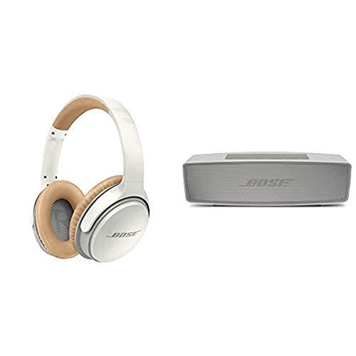 Bose SoundLink Cuffie Around-Ear II Wireless, Bianco + Bose SoundLink Mini II Diffusore, Bluetooth, Perla