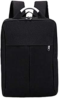 SODIAL Men'S and Women'S Laptop Backpack Large Capacity Laptop Backpack School Student Bag Backpack Black