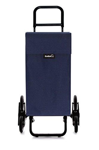 Garmol 122G3X3 PO C3 Carro de Compra Sube escaleras 3x3, Tela, Azul Marino, 53x16x96 cm