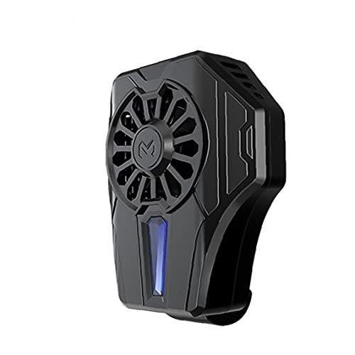 Teléfono móvil Radiador del teléfono refrigerador Fan de enfriamiento Soporte para teléfonos Inteligentes Negro