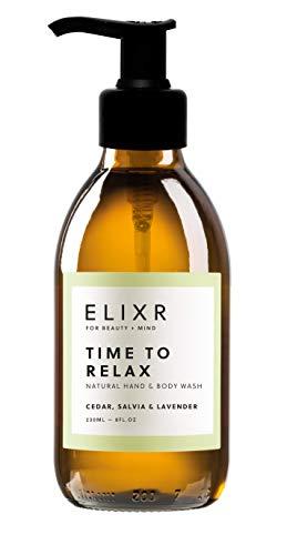ELIXR TIME TO RELAX I Flüssige Natur-Seife Zeder, Salbei & Lavendel | Pumpspender | 230ml…