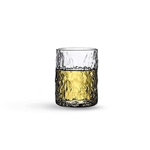 Kjgasutqblb Vasos Cristal Agua, Copa de Cristal, Vidrio de patrón de árbol, Adecuado para Picnic, Barbacoa, Fiesta, 9 oz-lavavajillas Seguro