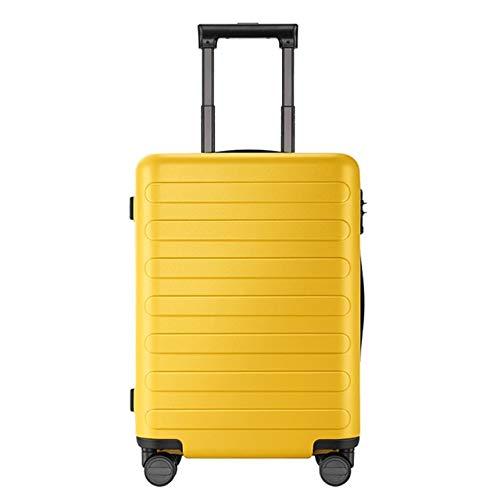 Mdsfe 90FUN 20 Juego de 24 Pulgadas Equipaje Maleta Spinner Ligero Maleta rígida con Cerradura TSA para Viajes de Negocios Negro - Primula Yellow, a1,20 Juego de 24 Pulgadas