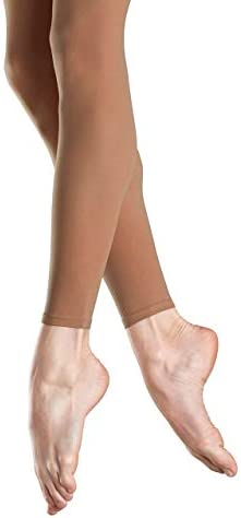 Bloch Dance Girls Endura Footless Tights Tan Child Large product image