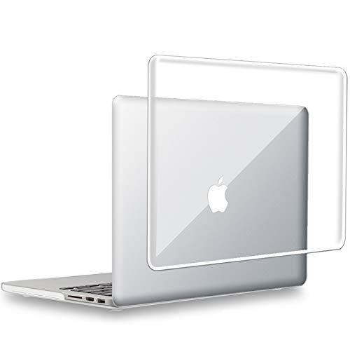 UESWILL Glossy Crystal Clear Hard Shell Case Cover for MacBook Pro 13 inch with Retina Display No CD-ROM (Model A1502/A1425, Version Early 2015/2014/2013/Late 2012), Transparent