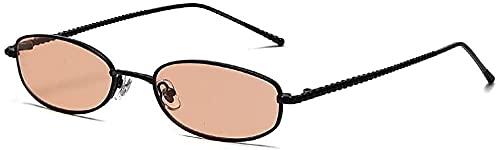 Señoras Gafas de sol Mujer Metal Personalidad Moda Pequeño Marco Polarizado Gafas De Sol Hombres Moda Gafas De Sol, C64,
