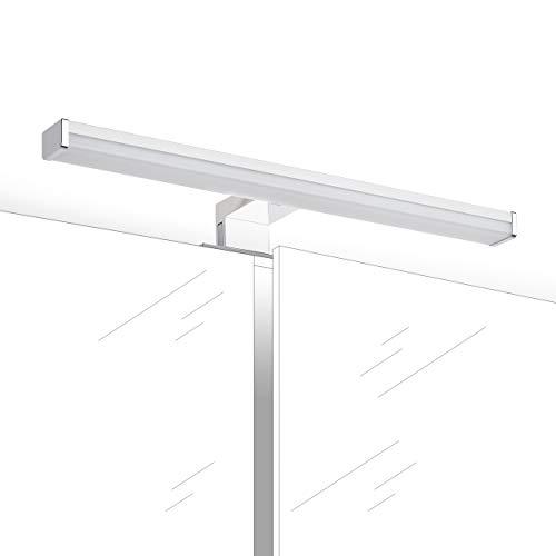Oktaplex lighting Nusa 8W 40cm | LED Spiegelleuchte Klemmleuchte warmweiß Badezimmer | Spiegellampe IP44 Bad | 640lm 3000K warmweiss