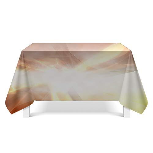 DREAMING-Leichte Textur Stoff Tischdecke Home Tischdecke Tv-Schrank Couchtisch Stoff Runde Tisch Tischset 140cm * 200cm
