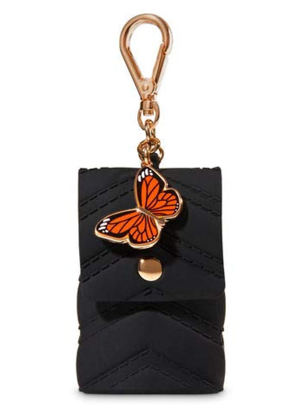 洗練された最適アライメント【Bath&Body Works/バス&ボディワークス】 抗菌ハンドジェルホルダー バタフライチャーム Pocketbac Holder Butterfly Charm [並行輸入品]