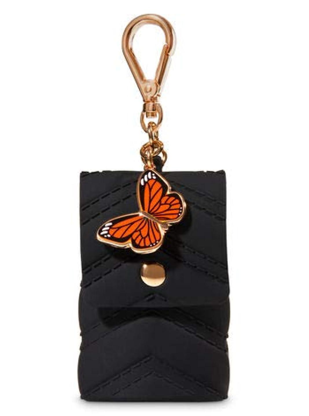 芝生余計な委員会【Bath&Body Works/バス&ボディワークス】 抗菌ハンドジェルホルダー バタフライチャーム Pocketbac Holder Butterfly Charm [並行輸入品]