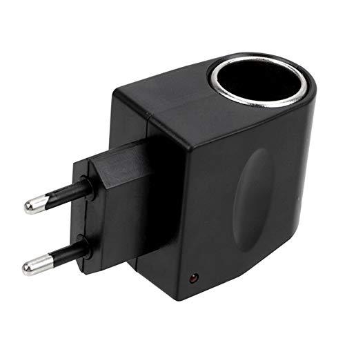 Adaptador convertidor de corriente para coche, convertidor adaptador reductor 220V AC a 12V DC adaptador de enchufe de encendedor de cigarrillos inversor 500mA 6W