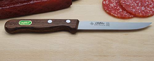 Gaardi Pfiffikus - Wurstmesser/Schinkenmesser 12 cm mit Holzgriff - 100% Solingen - Rechtshänder oder Linkshänder (Linkshänder)