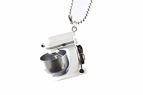 Miniblings Küchenmaschine Kette Halskette 80cm Kochen Backen Koch Küche Mixer - Handmade Modeschmuck - Kugelkette versilbert