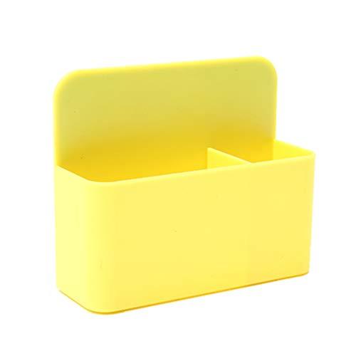 TOYANDONA Porta Pennarelli Cancellabile a Secco Magnetico Portapenne Magnetico Portapenne Portapenne Organizer Portamatite per Lavagna Bianca Armadietto Frigo Giallo Limone