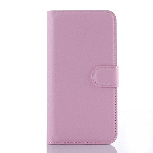 Tasche für Wiko Stairway Hülle, Ycloud PU Ledertasche Flip Cover Wallet Hülle Handyhülle mit Stand Function Credit Card Slots Bookstyle Purse Design rosa