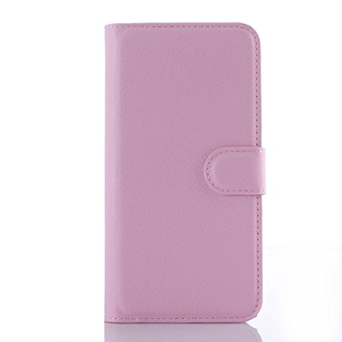 Tasche für Nokia Lumia 730 Hülle, Ycloud PU Ledertasche Flip Cover Wallet Hülle Handyhülle mit Stand Function Credit Card Slots Bookstyle Purse Design rosa