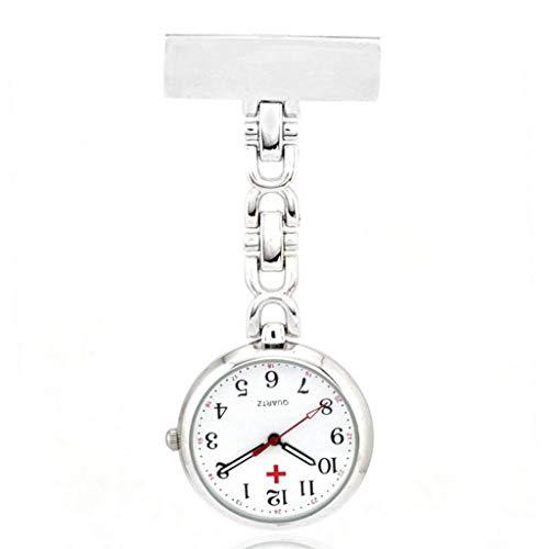 Quarzuhr Bewegung Retro Taschenuhr Krankenschwester Tisch Brosche Geschenk Uhr Weiß Praktisch und praktisch