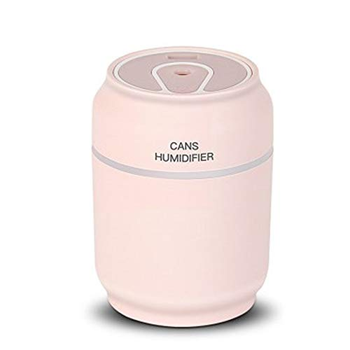 GYJ Humidifier/Ultrasonic Cool Mist Best Air Filter-Free- Send A Night Light Fan for Bedroom/Home Living Room/Baby and Office Best Gift,Pink