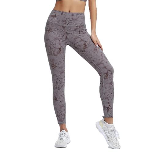 QTJY Pantalones de Yoga sin Costuras para Mujer Push-ups Ejercicio de Celulitis Pantalones de Yoga de Gimnasio Ejercicio de Estiramiento de Cintura Alta Pantalones para Correr A M