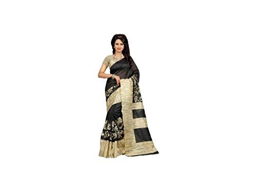 INDIAN STORE 24 Indische Bollywood Hochzeit Saree indische ethnische Hochzeit Sari neue Kleid Damen lässig Tuch Geburtstag Ernte Top Mädchen Frauen schlicht traditionelle Party Wear Readymade Kostüm (black 2)