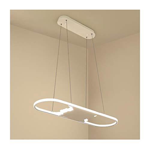 Kroonluchter met hanger, modern licht, sober, LED, smeedijzer, acryl, woonkamerdecoratie, plafondlamp, slaapkamer, eettafel, kantoor, hanglamp [energie-efficiëntieklasse A]