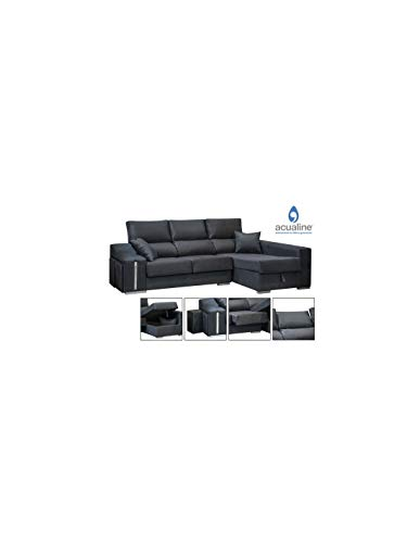 DECOR NATUR Sofá Chaiselongue Derecha Oscar Color Gris Oscuro(Serie Oferta)