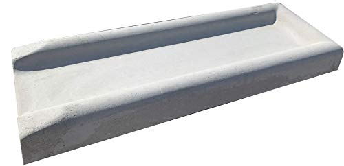 NuCast Precast Concrete 3' high x 11' Wide x 30' Long Splash Block for Water and Rain Drainage from Home, Gutter, Downspout