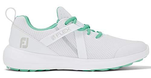 FootJoy WN FJ Flex, Zapatos de Golf Mujer, Blanco/Verde, 38 EU