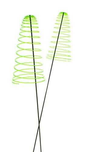 Garten Bronder e.K. 10138.33 Sunshine Piro – Soleil Spirale, Lot de 2 Diamètre 20 cm, Longueur env. 50 cm à Douille avec Tige basculant 1,25 m et système Elvira, fabriqué en Allemagne, Vert