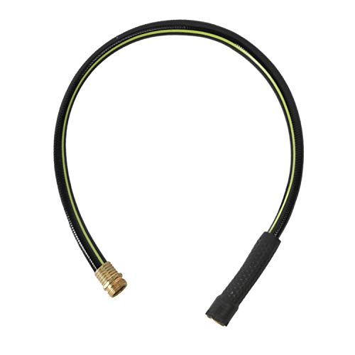 """Worth Garden 3ft Hose 5/8"""" x 3' Water Hose - Durable Non Kinking Short Garden Hose - Leader Hose Replacement for Hose Reel - PVC Material with Brass Hose Fittings - 12-Year Manufacturer Warranty"""
