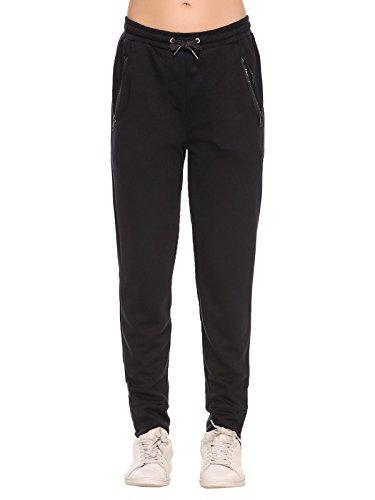 ADOME Damen Jogginghose Hose Casual Swearthose Elastische Taille mit Tunnelzugbund Jogpants Sporthose mit Taschen