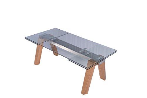 KAWOLA Esstisch Mounty Glastisch 200-300cm x 100cm ausziehbar