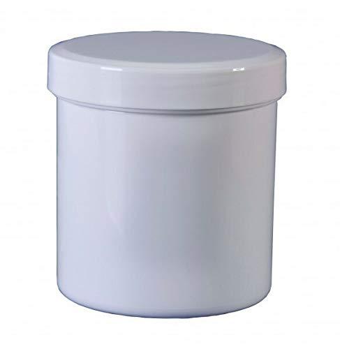25 Salbenkruken Salbendose 100 g 125 ml Deckel weiß Salbendöschen Dose Kunststoffdose Schraubdeckeldosen Schraubdeckel Fa.ars