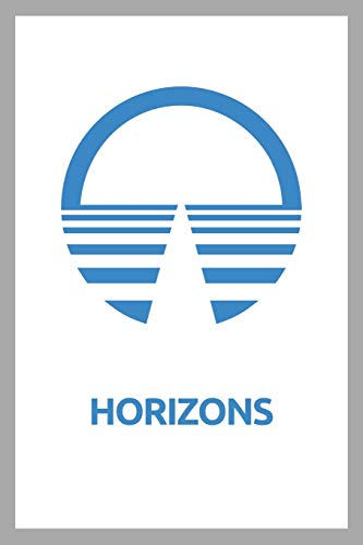"""Horizons: Composition Notebook, Retro EPCOT Center Journal with White Soft Cover, 200 Blank Lined Pages (6\""""x\""""9)"""