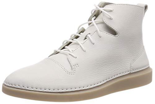 Clarks Damen Hale Rise Hohe Sneaker, Weiß (White Leather), 41 EU