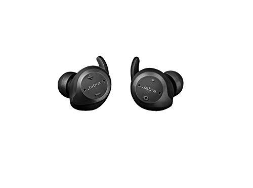 Jabra Écouteurs Elite Sport – Écouteurs sans Fil avec Application de Fitness Intégrée pour les Appels et la Musique – Noir