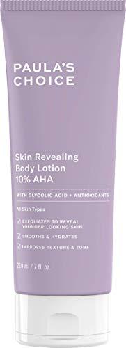 Paula\'s Choice Skin Revealing Body Lotion 10{59ec70115e34a4346f2d0888d55d4a36942eecb0ab88998231b34be1e9776cfc} AHA - Anti Aging Körper Peeling gegen Pickel, Pigmentflecken & Keratosis Pilaris - mit Glycolsäure & Shea Butter - Alle Hauttypen - 210 ml