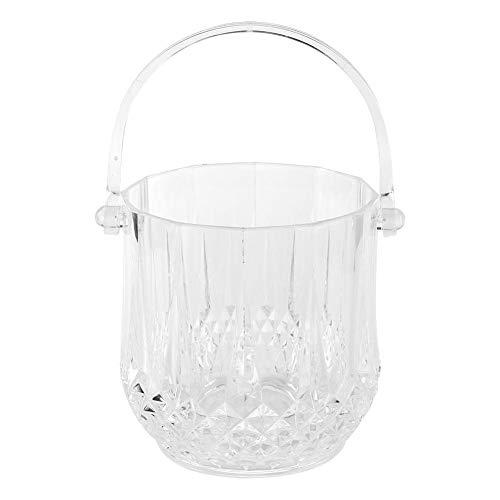 Secchiello per ghiaccio per cocktail bar, congelatore per bevande in cristallo con contenitore staccabile in acrilico trasparente(Clear)