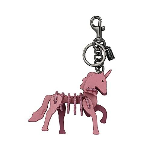[コーチ] キーホルダー ユニコーン チャーム キーフォブ COACH Small Unicorn Puzzle Charm Key Fob 23531 BKPRI BK/Primrose [並行輸入品]