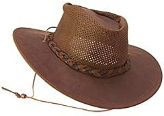 Western Hat Adult Airflow Fold Up Outback Black 9539