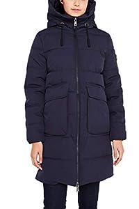 edc by ESPRIT Damen 119CC1G008 Mantel, Blau (Navy 400), Medium (Herstellergröße: M)