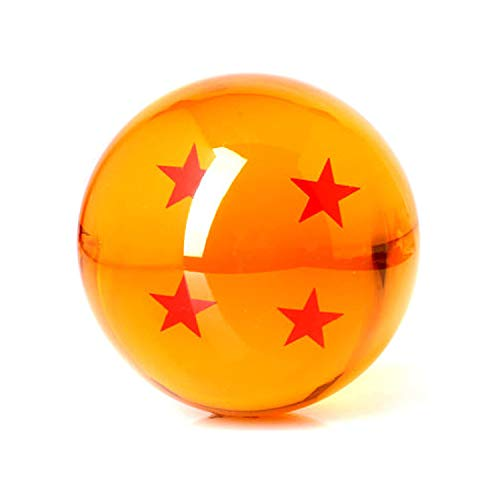 I3C Anime Dragon Ball Z Bola de Dragón con 4 Estrellas Dragonball 4 Stars Coleccíon Decoración Cosplay Accesorios Juguetes de Dragon Ball para Hombres Mujeres niños fanáticos del Anime