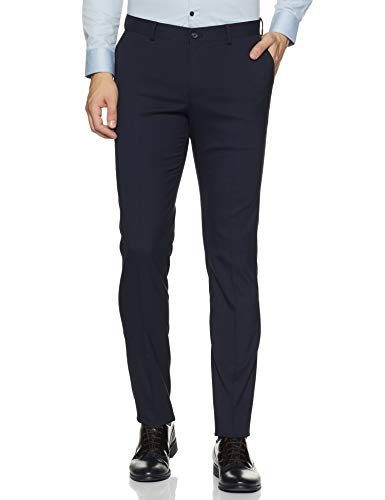 Amazon Brand – Symbol Men's Slim Fit Stretchable Formal Trousers