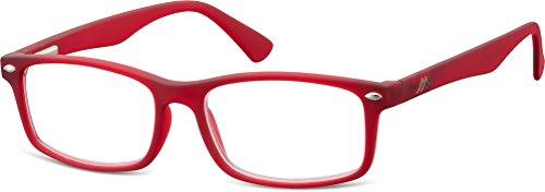 Montana Eyewear Sunoptic MR83B leesbril in rood - sterkte +1.00 inclusief zachte etui