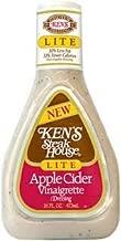 Ken's Steak House Lite Apple Cider Vinaigrette Salad Dressing 16oz Bottle (Pack of 6)